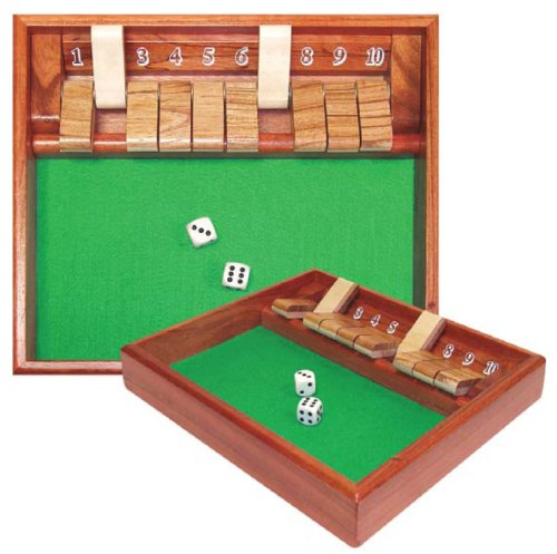 Play Shut Box - Trademark Poker Shut The Box Game, 10 Numbers