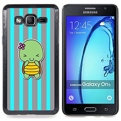 All Phone Most Case / Special Offer Smart Phone Hard Case Cool Image PC Skin Cover Protective Case for Samsung Galaxy On5 O5 // blue turtle cute cartoon grey lines