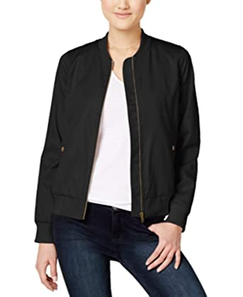 new concept latest shop for best Amazon.com: Hippie Rose Juniors' Bomber Jacket (Black, M ...