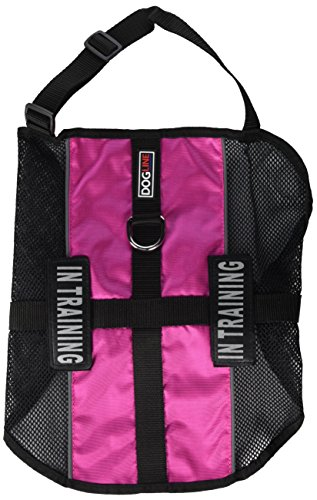 Dogline MaxAire Multi-Purpose Mesh Vest for Dogs and 2 Removable in Training Patches, Large, Pink from Dogline