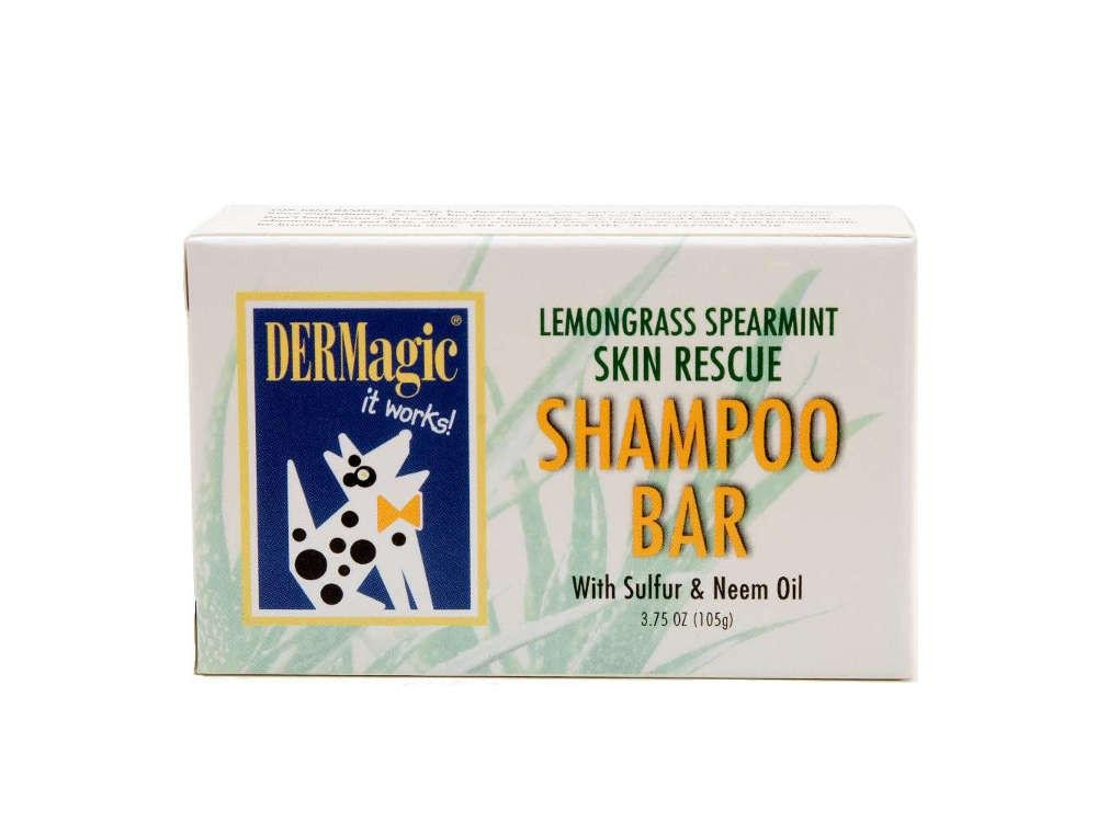 DERMagic Skin Rescue Shampoo Bar, Lemongrass & Spearmint, 99% Organic, 3.75 oz.