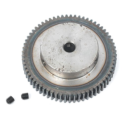 - Newsmarts 45 Steel Spur Gear, 65 Teeth 10mm Bore 1 Module Motor Metal Gear