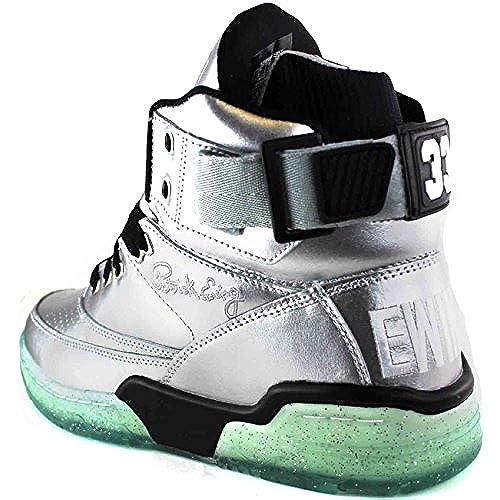 Ewing Athletics Ewing 33 HI Silver Black Ice Basketball Shoe Men Limited Edition