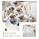 Sleepwish Pug Fleece Blanket Pet Blanket Dog