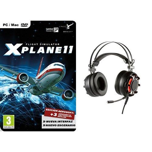 X-Plane 11 + Konix Ragnarok - Auriculares con micrófono para juegos, color negro: Amazon.es: Videojuegos
