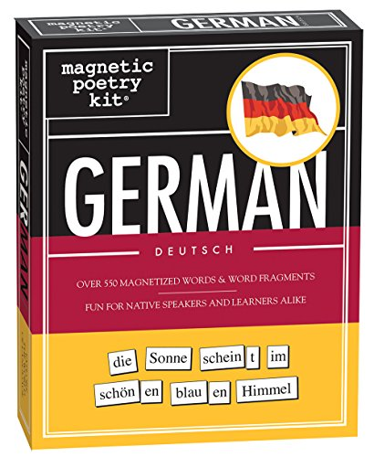 Magnetic Poetry - German Kit - Words for Refrigerator - Write Poems and Letters on the Fridge - Made in the USA ()