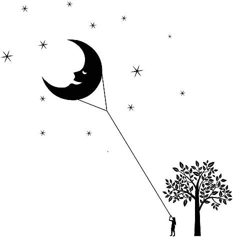 Luna y estrellas de vinilo pegatinas de pared escena cometa ...
