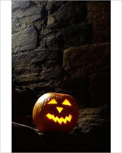 Photographic Print of Halloween pumpkin N060892