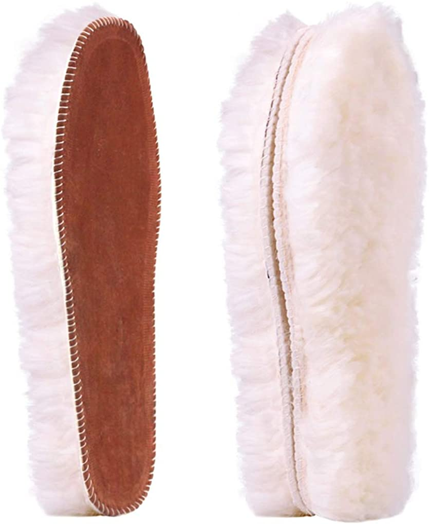 Replacement Breathable Plush Insole Shoes Pad Fluffy Fleece Wool Felt Insoles