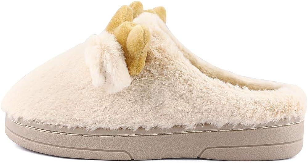 MK MATT KEELY Toddler Kids Slippers Girls Boys Winter Indoor House Shoes Beige