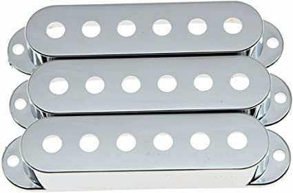 Stratocaster Sealed Closed Single Coil Pickup Cover Set of 3 Black or White
