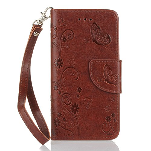 Für Apple iPhone 6 Plus (5.5 Zoll) Tasche ZeWoo® PU Ledertasche Hülle Leder Schutzhülle Case Cover - HX007 /Brown