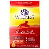 Wellness Complete Health Natural Dry Senior Dog Food, Chicken & Barley, 15-Pound Bag