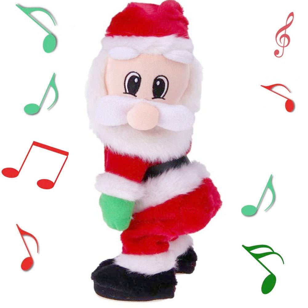Yansanido Twerking Santa Claus - Twisted Hip, Singing and Dancing Electric Toy, Twisted Hip Santa Claus Figure Christmas Santa Claus Christmas Xmas Gift for Kids by Yansanido