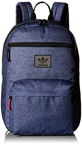 - adidas Originals National Backpack, One Size, Denim Print/Black/Red