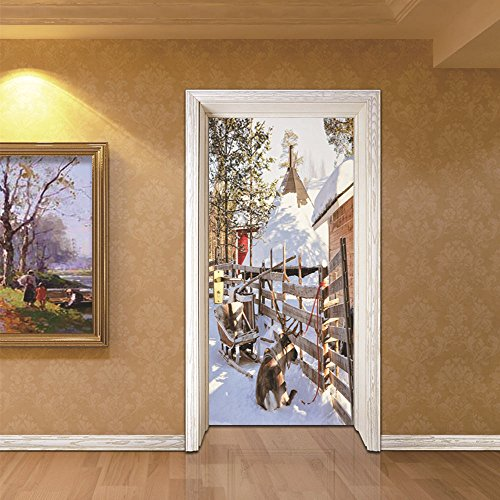 LWCX Christmas Creative Door Adheres To The Bedroom Source And Self Adhered by LWCX
