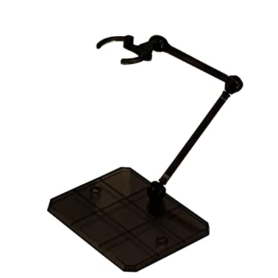 Migaven Assembly Action Figure Display Holder Base Doll Model Support Stand Compatible with HG RG SD SHF Gundam 1/144 Toy Black: Toys & Games