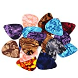 ZPS 20-pack 0.46mm Stylish Colorful Celluloid Guitar Picks Plectrums for Guitar Bass