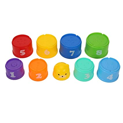Bath Toy Toys & Hobbies Colorful Stack Cup Kids Funny Piles Cup Baby Bath Toy Plastic Toy For Kids
