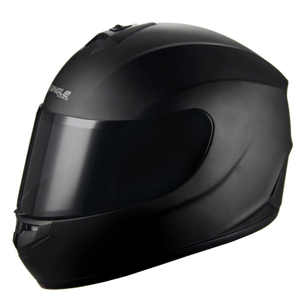 "Triangle Motorcycle Helmets Full Face ""Graffiti Cross"" Street Bike [DOT] (X-Large, Matte Black)"