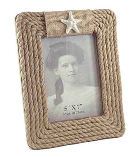 - Caffco Starfish Nautical Rope Picture Frame - 5