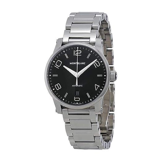 Montblanc Timewalker Reloj de Hombre automático 39mm Correa de Acero 110339: Amazon.es: Relojes