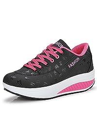 QZBAOSHU Fashion Sneakers for Girls Women Fitness Running Sports Shoes Wedges
