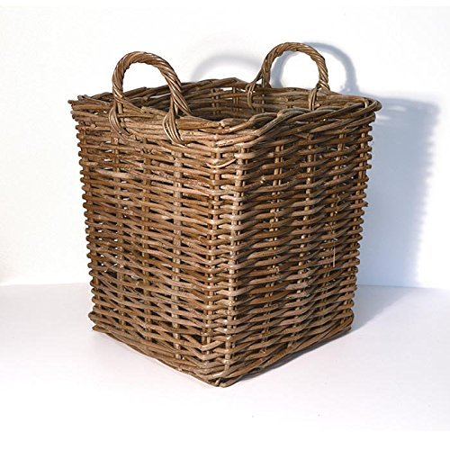 Fireside Square Log Basket - Small Brown [Kitchen & Home] Tri Pendawa Corporation
