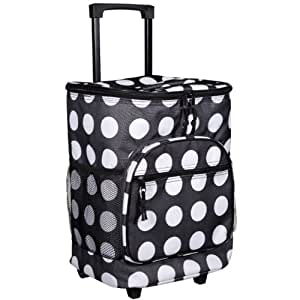 Amazon Com Black Amp White Dots Insulated Rolling Cooler