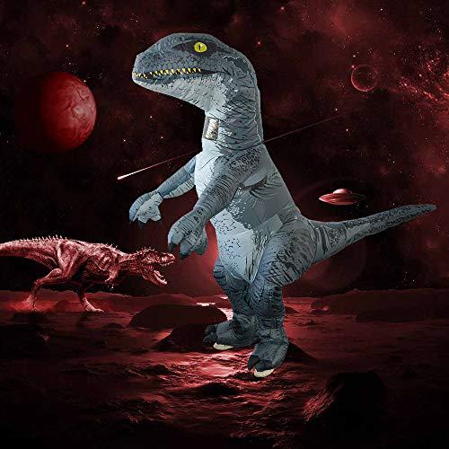 DICPOLIA Decoration Inflatable Dinosaur Trex Costume Adult Size-Blow Up T-Rex Dino Suit (Multicolor)
