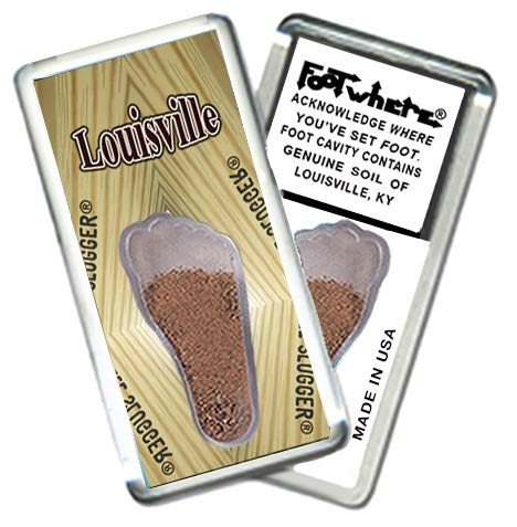 "Louisville ""FootWhere"" Souvenir Fridge Magnet. Made in USA (LVL205 - ()"