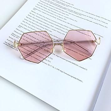 LXKMTYJ Die Vorschriften nicht Palm pearl Nasenbügel Sonnenbrille dünnes Gesicht Sonnenbrille Mädchen runden Gesicht Persönlichkeit Gläser, marine Toner film