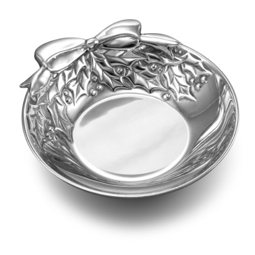 Crystal Berry Bowl (Wilton Armetale Holly Berries Serving Bowl, 8-3/4-Inch)