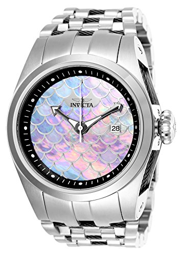 Invicta 25119 Bolt 50mm Stainless Steel Mother of Pearl Automatic Watch (Dial Pearl Mother Of Automatic)