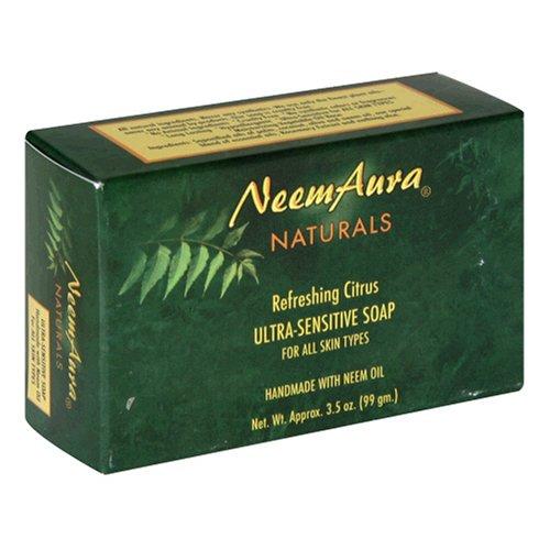 Neemaura Naturals Ultra Sensitive Soap, Refreshing Citrus, 3.5 oz (99 g)