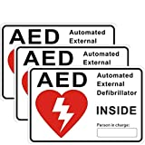 """Outdoor/Indoor (3 Pack) 6"""" x 4"""" AED Automated"""