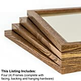 Craig Frames 8261610 8 by 10-Inch Picture Frame 4-Piece Set, Solid Wood, .84-Inch Wide, Honey Brown