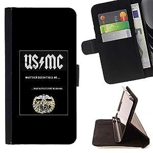 Momo Phone Case / Flip Funda de Cuero Case Cover - Musique Bouclier noir Band - Apple Iphone 5 / 5S