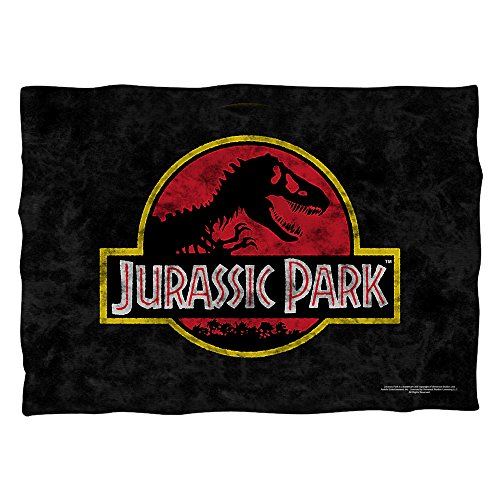 Jurassic Park Classic Logo Pillow Case White One Size ()