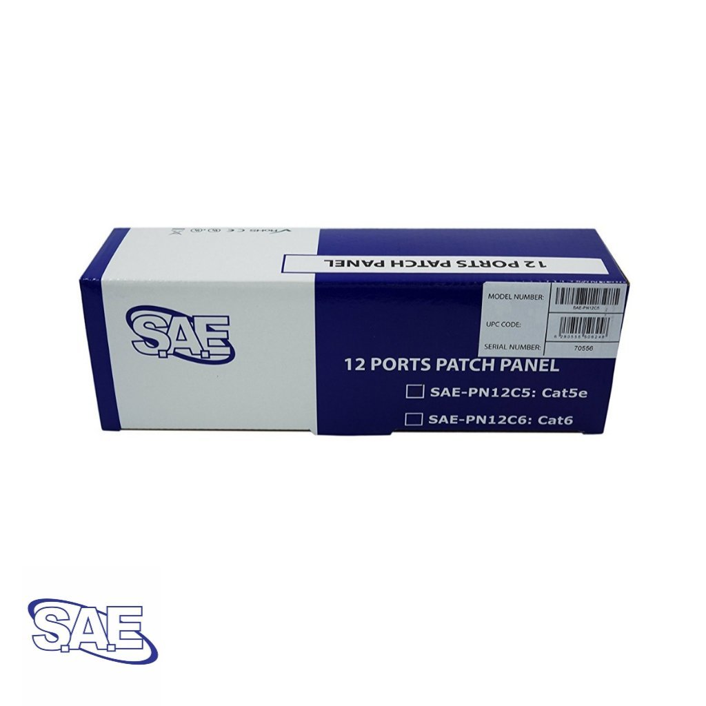 Mounted Type,110 IDC SAE UTP Cat6 Patch Panel 12Port Wall Ship from Canada by AVS- Audio Video Solutions