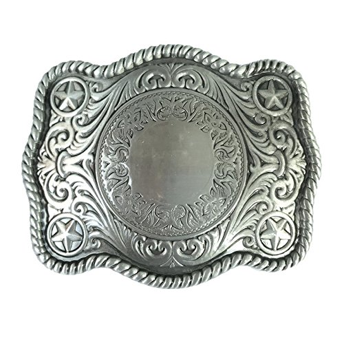 (Rodeo Handmade Diy Blank Belt Buckle Filigree Cowboy Cowgirl Custom Made Initial)