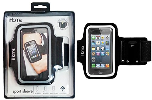(iHome IH-5P141B Sport Armband for iPhone 4/4S/5 and iPod touch,  Black)