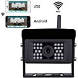 Wireless Backup Camera Lastbus 2018 Improved Night Vision Wide View Angle Waterproof WIFI Wire-free Rear View Cam with IOS, Android APP for RV, Truck, Trailer, Van, Camper and More