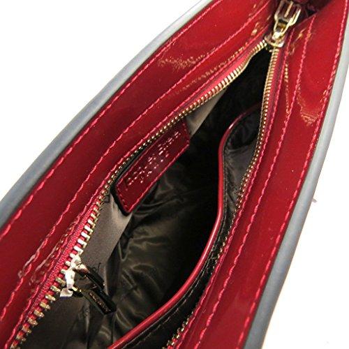 Bolsa de cuero 'Jacques Esterel'barniz rojo.