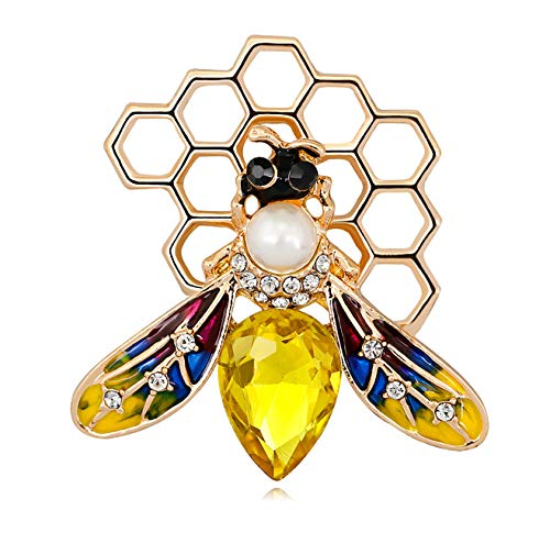 KristLand - Austrian Crystal Cute Animal Butterfly Dragonfly Brooches Pins Corsages Scarf Clips Honey Bee