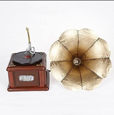 JE Retro simulación fonógrafo gramófono Tocadiscos Antiguo ...