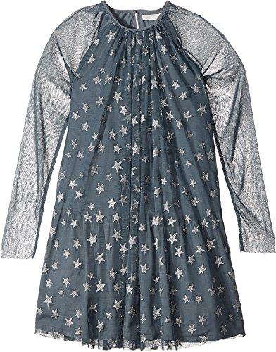 Stella McCartney Kids Girls' Misty Star Print Tulle Dress, Blue, 6 by Stella McCartney Kids