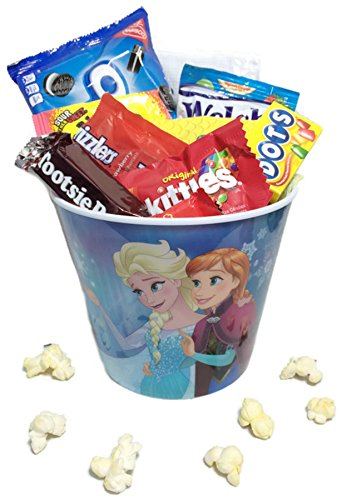 Mini Movie Card (Kids Mini Movie Night Gift Basket ~ Includes Popcorn, Cookies and Candy in a Character Bucket)