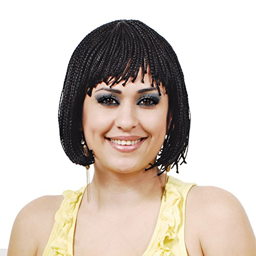 Synthetic Braided Bob Wig (12-golden light brown) (Brown Braided Wig)