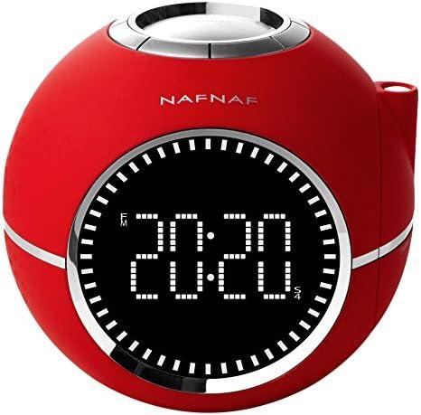 Naf Naf CLOCKINERD - Despertador con radio digital FM PLL, proyector y con sonidos de la naturaleza